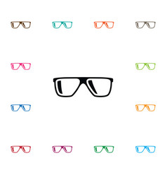 Isolated geek icon eyeglasses element can vector