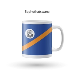 Bophuthatswana flag souvenir mug on white vector