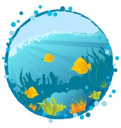 Underwater background vector