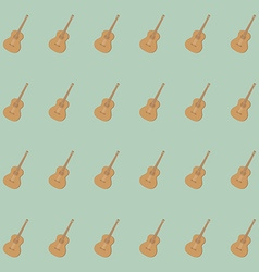 guitar pattern isolated on background vector image