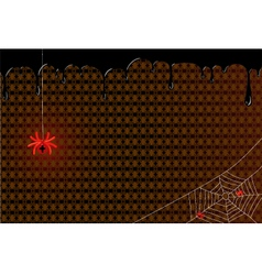 Red spider with cubs on the web vector image