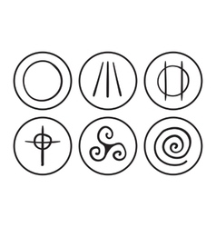 Symbols of druidism vector