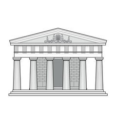 Greek doric temple vector