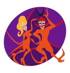 Beautiful couple in passionate dance vector
