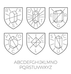 Heraldry icons with precious stones part 1 vector