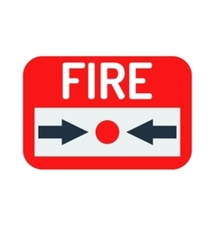 Fire button icon vector