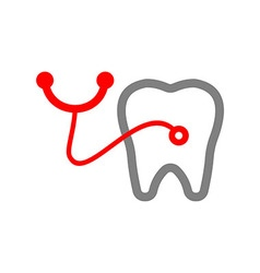 Dental clinic logotype concept medical tooth vector