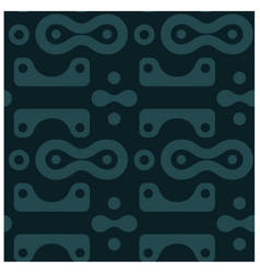 Amazing curvy rounded shapes seamless pattern vector
