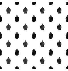 Blooming cactus pattern vector