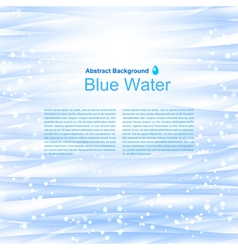 Blue water background with reflections vector image