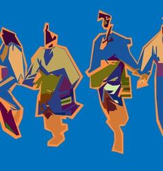 Bulgarian dance vector