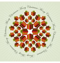 Christmas mandala background vector image vector image