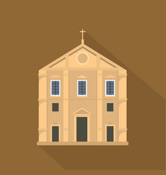 church icon flat style vector image vector image