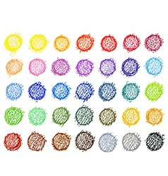 Colorful pallete on white background vector image