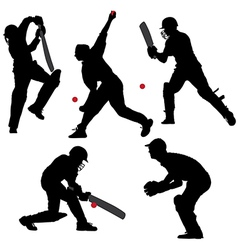 Cricket sport silhouette vector