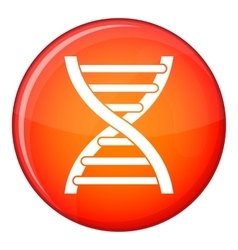 Dna icon flat style vector