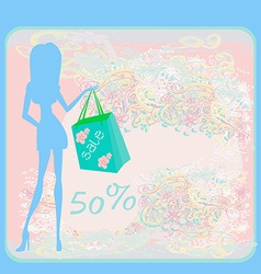 fashion girl Shopping vector image vector image
