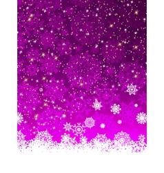 Fiolet winter background with snowflakes EPS 8 vector image vector image