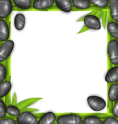 Frame made stones and bamboo spa background copy vector