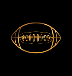 Gold colored american football icon vector