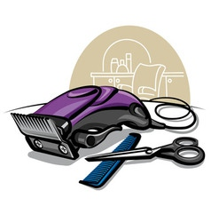 hair clipper vector image vector image