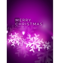 Holiday purple abstract background winter vector image