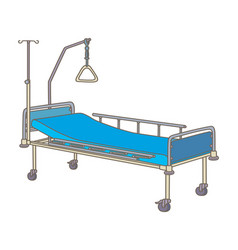 hospital bed vector image vector image