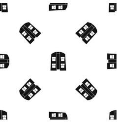Hunter vest pattern seamless black vector
