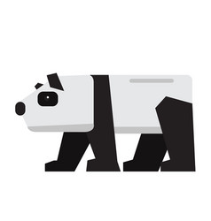 Isolated abstract panda vector