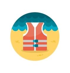 Lifejacket flat icon vector