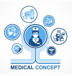 Medical nurse concept vector