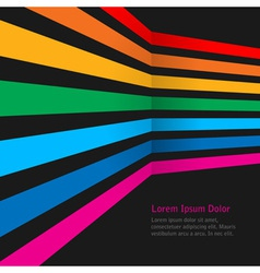 Rainbow stripes on dark background vector