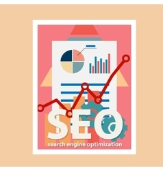 Search engine flat with magnifying vector image