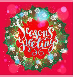Season holiday wreath vector