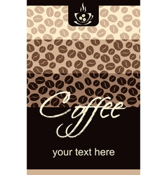 Template Coffee shop menu vector image