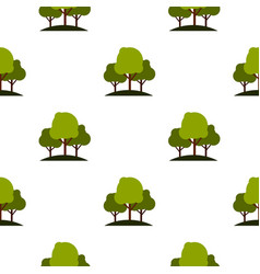 Tree group pattern flat vector