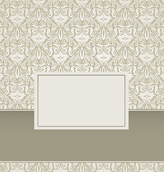 Vintage Damask Background Design vector image