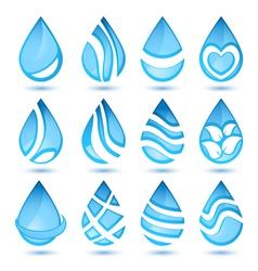 Water symbols vector