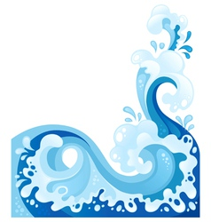 Wave background water splash vector