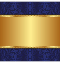 Blue and gold background vector
