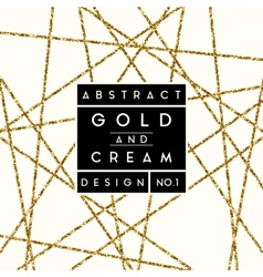 Abstract Gold Glitter Design vector image