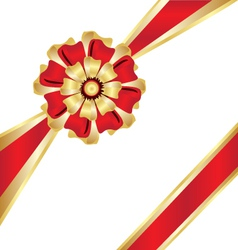 Christmas box gift ribbon vector