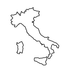 italy map icon vector image