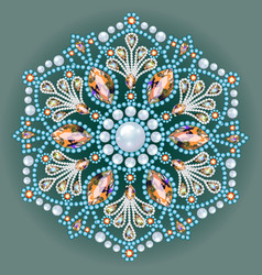 Mandala brooch jewelry design element tribal vector