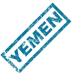 Yemen rubber stamp vector