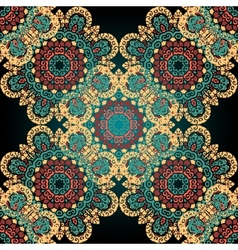 Seamless paisley mandala abstract pattern tiled vector