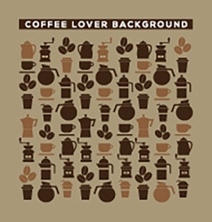 Coffee lover background vector