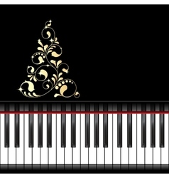 Musical christmas template vector