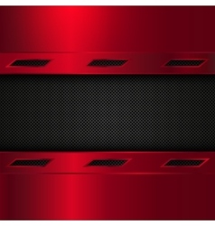 Red and black metal background vector