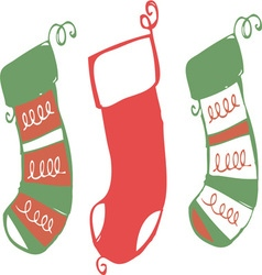Xmas stockings vector